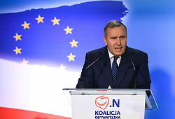 September 30, 2018 - Krakow, Poland - Grzegorz Schetyna, the Civic Platform (PO) political party leader and the Opposition leader, speaks during the National Convention of the Citizens' Coalition in Krakow Opera Hall..Sunday, September 30, 2018, in Krakow, Poland. (Credit Image: © Artur Widak/NurPhoto/ZUMA Press)