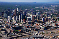 Aerial View, Downtown Denver & Coors Field