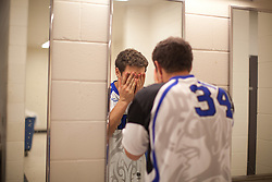 31 May 2010: Duke Blue Devils midfielder Greg DeLuca (34) before playing the Notre Dame Irish in the NCAA Lacrosse Championship at M&T Bank Stadium in Baltimore, MD.  The Blue Devils would go on that day to win the national title.