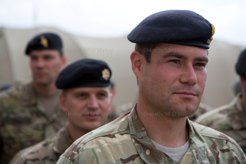 Mcc0053988 . Daily Telegraph<br /> <br /> DT News<br /> <br /> The official handover ceremony taking place in Camp Bastion of Task Force Helmand to Nato command signalling the end of British combat operations in Afghanistan .<br /> <br /> Helmand 30 March 2014