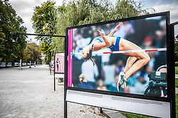 Photo of Marusa Cernjul of Slovenia competes in women's high jump qualification during IAAF World Championships London 2017 Day 7 at London Stadium during Opening ceremony of photo exhibition at 100 years Anniversary of Slovenian Athletic Federation, on September 17, 2020 in Tivoli park, Jakopicevo sprehajalisce, Ljubljana, Slovenia. Photo by Vid Ponikvar / Sportida