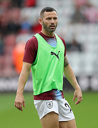 """Burnley's Phillip Bardsley before the Premier League match at St Mary's, Southampton. PRESS ASSOCIATION Photo. Picture date: Sunday August 12, 2018. See PA story SOCCER Southampton. Photo credit should read: Andrew Matthews/PA Wire. RESTRICTIONS: EDITORIAL USE ONLY No use with unauthorised audio, video, data, fixture lists, club/league logos or """"live"""" services. Online in-match use limited to 120 images, no video emulation. No use in betting, games or single club/league/player publications."""