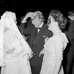 12 July 1972 - Margaret, Duchess of Argyll and Paul Getty at a party in London.<br /> <br /> Photo by Desmond O'Neill Features Ltd.  +44(0)1306 731608  www.donfeatures.com