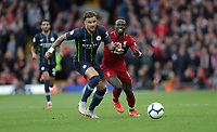 Football - 2018 / 2019 Premier League - Liverpool vs. Manchester City<br /> <br /> Sadio Mane of Liverpool chases Kyle Walker of Manchester City at Anfield.<br /> <br /> COLORSPORT/LYNNE CAMERON