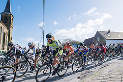 Natalie van Gogh takes the inside line - Le Samyn des Dames 2016, a 113km road race from Quaregnon to Dour, on March 2, 2016 in Hainaut, Belgium.