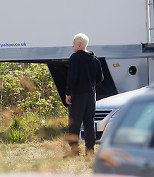 Jonny Lee Miller, Sick Boy at the film base in Leith, Edinburgh, to film scenes for the second Trainspotting film, on Monday 16/5/2016.