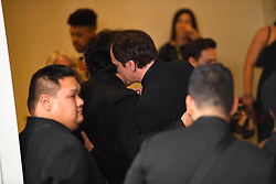 January 5, 2020, Beverly Hills, California, USA: QUENTIN TARNTINO  hugs BONG JOON HO in the Press Room during the 77th Annual Golden Globe Awards, at The Beverly Hilton Hotel. (Credit Image: © Kevin Sullivan via ZUMA Wire)