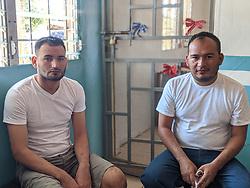 Arnold Javier Alemán and Orbin Hernández in Olanchito prison, Yoro, Honduras.