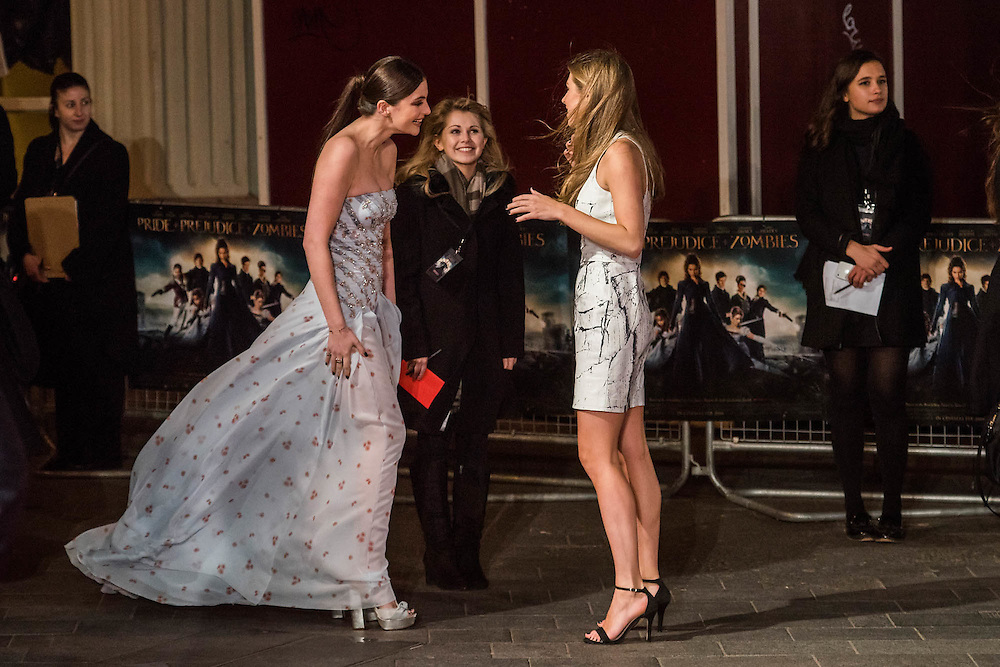Millie Brady and Hermione Corfield  - The European premiere of Pride and Prejudice and Zombies.