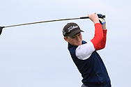 Alex King (Faithlegg) on the 1st tee during Round 2 of the Connacht U16 Boys Amateur Open Championship at Galway Bay Golf Club, Oranmore, Galway on Wednesday 17th April 2019.<br /> Picture:  Thos Caffrey / www.golffile.ie