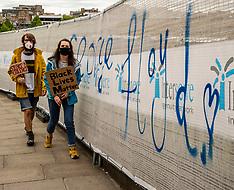 All heading to George Floyd protest in Holyrood Park, Edinburgh, 7 June 2020