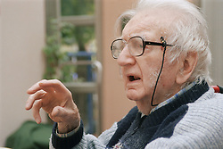 Elderly man talking,
