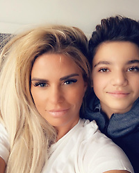 """Katie Price releases a photo on Instagram with the following caption: """"My gorgeous boy @officialjunior_andre is soo handsome \u2764\ufe0f\u2764\ufe0f"""". Photo Credit: Instagram *** No USA Distribution *** For Editorial Use Only *** Not to be Published in Books or Photo Books ***  Please note: Fees charged by the agency are for the agency's services only, and do not, nor are they intended to, convey to the user any ownership of Copyright or License in the material. The agency does not claim any ownership including but not limited to Copyright or License in the attached material. By publishing this material you expressly agree to indemnify and to hold the agency and its directors, shareholders and employees harmless from any loss, claims, damages, demands, expenses (including legal fees), or any causes of action or allegation against the agency arising out of or connected in any way with publication of the material."""