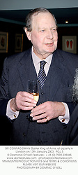 SIR CONRAD SWAN Garter King of Arms, at a party in London on 13th January 2003.<br />