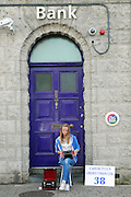 Brid Brennan from Mallow pictured taking part in the Celtic Music Festival busking competition in Cahersiveen, County Kerry at the weekend.<br /> Picture by Don MacMonagle