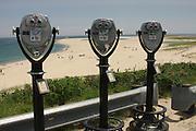 Coin-operated binoculars overlook Chatham Beach and the Atlantic Ocean, Chatham, Massachusetts