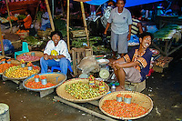 Indonesia, Sulawesi, Manado. The market in Manado harbour.