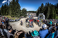 during the Women Elite Cross Country event at the 2018 UCI MTB World Championships - Lenzerheide, Switzerland