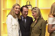 Kim Herzog, Jean-Marc Loubier, and Brooke de Campo. Celine fashion show and lunch. New Bond St. London. 8 May 2001. © Copyright Photograph by Dafydd Jones 66 Stockwell Park Rd. London SW9 0DA Tel 020 7733 0108 www.dafjones.com