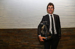 Geraint Thomas poses with his BBC Sports Personality of the Year Award during the BBC Sports Personality of the Year 2018 at Birmingham Genting Arena.