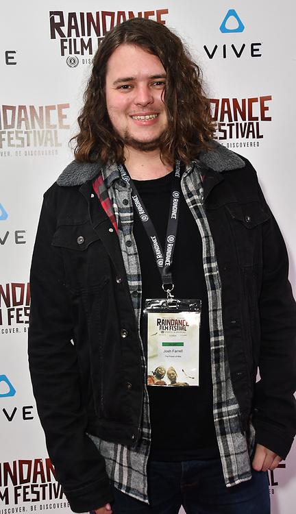 Josh Farrell - The Power of Max Nominated attends the Raindance Film Festival - VR Awards, London, UK. 6 October 2018.