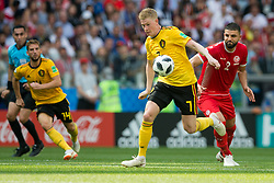 June 23, 2018 - Moscow, Russia - Kevin De Bruyne of Belgium vies Syam Ben Youssef of Tunisia during the FIFA World Cup Group G match between Belgium and Tunisia at Spartak Stadium on June 23, 2018 in Moscow, Russia. (Credit Image: © Foto Olimpik/NurPhoto via ZUMA Press)