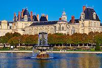 France, Seine-et-Marne (77), Fontainebleau, le château royal, classé Patrimoine Mondial de l'UNESCO // France, Seine et Marne, Royal Castle of Fontainebleau, Unesco World Heritage