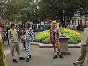 Demi Scott, Models from Amo casting modeling clothes by Keji in Soho, September 2016