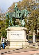 Equestrian bronze statue Redvers Buller ( 1839-1908) on horse, Exeter, Devon, England, UK by Adrian Jones
