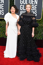 January 6, 2019 - Los Angeles, California, U.S. - Sandra Oh and Jodie Cormer during red carpet arrivals for the 76th Annual Golden Globe Awards at The Beverly Hilton Hotel. (Credit Image: © Kevin Sullivan via ZUMA Wire)