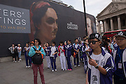Chinese tourists, Trafalgar Sq. London, 21 July 2016