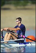 Sydney. AUSTRALIA. 2000 Summer Olympic Regatta, Penrith. NSW.  <br /> <br />  USA M1X Don SMITH<br /> <br /> [Mandatory Credit Peter SPURRIER/ Intersport Images] Sydney International Regatta Centre (SIRC) 2000 Olympic Rowing Regatta00085138.tif
