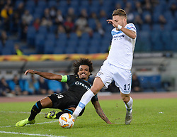 November 8, 2018 - Rome, Italy - Ciro Immobile and Luiz Gustavo during the Europe League football match S.S. Lazio vs Olympique de Marseille at the Olympic Stadium in Rome, on november 08, 2018. (Credit Image: © Silvia Lore/NurPhoto via ZUMA Press)