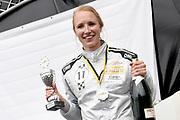 De Jumbo Racedagen, driven by Max Verstappen op Circuit Zandvoort. / The Jumbo Race Days, driven by Max Verstappen at Circuit Zandvoort.<br /> <br /> Op de foto / On the photo:  Carlijn Achtereekte