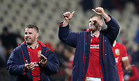 Rugby Union - 2017 British & Irish Lions Tour of New Zealand - Crusaders vs. British & Irish Lions<br /> <br /> Sean O'Brien and George Kris of The British and Irish Lions wave to the fans at AMI Stadium [Rugby League Park], Christchurch.<br /> <br /> COLORSPORT/LYNNE CAMERON