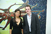 ALISON JACQUES AND TIM STONER, private view  of new exhibition by Tim Stoner , Alison Jacques Gallery in new premises in Berners St., London, W1 ,Afterwards across the rd. at the Sanderson Hotel. 3 May 2007. DO NOT ARCHIVE-© Copyright Photograph by Dafydd Jones. 248 Clapham Rd. London SW9 0PZ. Tel 0207 820 0771. www.dafjones.com.