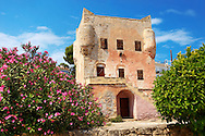 The Medieval Tower of Markellos used by the Greek government after the 1821 revolution. ..<br /> <br /> If you prefer to buy from our ALAMY PHOTO LIBRARY  Collection visit : https://www.alamy.com/portfolio/paul-williams-funkystock/aegina-greece.html <br /> <br /> Visit our GREECE PHOTO COLLECTIONS for more photos to download or buy as wall art prints https://funkystock.photoshelter.com/gallery-collection/Pictures-Images-of-Greece-Photos-of-Greek-Historic-Landmark-Sites/C0000w6e8OkknEb8