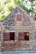 A civil war era slave cabin at Boone Hall Plantation in Mt Pleasant, South Carolina.