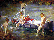 Tuke, Henry Scott (1858–1929) artist. Ruby, gold and malachite, 1902
