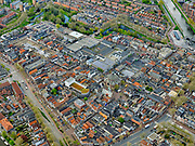 Nederland, Noord-Holland, Purmerend, 07-05-2021; Purmerend centrum, Venediën en Gedempte Singelgracht, Koepelkerk en Kaasmarkt.<br /> <br /> luchtfoto (toeslag op standaard tarieven);<br /> aerial photo (additional fee required)<br /> copyright © 2021 foto/photo Siebe Swart.