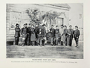 """Headquarters Tenth Army Corps Richmond Va. November 1864 from The American Civil War book and Grant album : """"art immortelles"""" : a portfolio of half-tone reproductions from rare and costly photographs designed to perpetuate the memory of General Ulysses S. Grant, depicting scenes and incidents in connection with the Civil War Published  in Boston and New York by W. H. Allen in 1894"""
