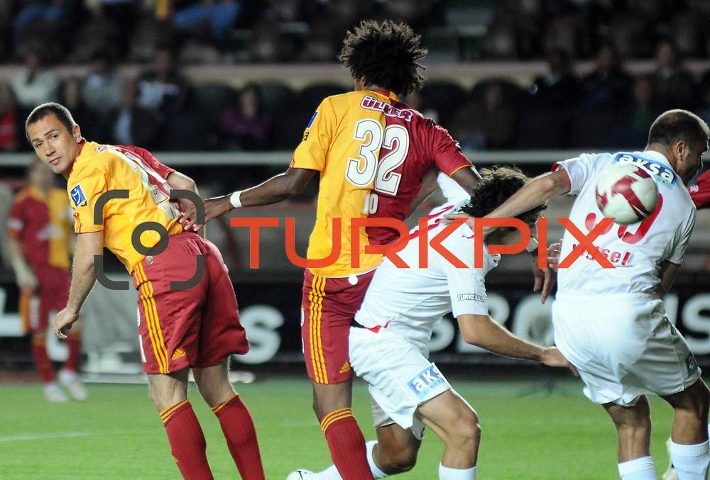 Galatasaray's Sabri SARIOGLU (L) during their Turkish Super League soccer match Galatasaray between Antalyaspor at the AliSamiYen Stadium at Mecidiyekoy in Istanbul Turkey on Saturday 08 May 2010. Photo by TURKPIX