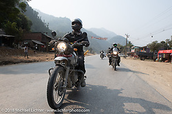 Corey Froschheuser (L) and Sean Lichter on day-9 of our Himalayan Heroes adventure riding from Pokhara to Nuwakot, Nepal. Wednesday, November 14, 2018. Photography ©2018 Michael Lichter.