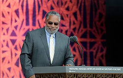 Founding Director of the NMAAHC Dr. Lonnie Bunch smiles at the opening ceremony of the Smithsonian National Museum of African American History and Culture on September 24, 2016 in Washington, DC, USA. The museum is opening thirteen years after Congress and President George W. Bush authorized its construction. Photo by Olivier Douliery/Pool/ABACAPRESS.COM