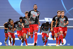 LISBON, PORTUGAL - Sunday, August 23, 2020: FC Bayern Munich's Jerome Boateng during the pre-match warm-up before the UEFA Champions League Final between FC Bayern Munich and Paris Saint-Germain at the Estadio do Sport Lisboa e Benfica. (Credit: ©UEFA)