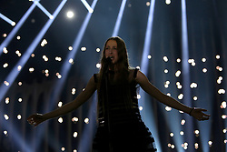 May 7, 2018 - Lisbon, Portugal - Singer Sennek of Belgium performs during the Dress Rehearsal of the first Semi-Final of the 2018 Eurovision Song Contest, at the Altice Arena in Lisbon, Portugal on May 7, 2018. (Credit Image: © Pedro Fiuza/NurPhoto via ZUMA Press)