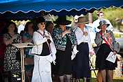 Members of the Daughters of the Confederacy lead a pledge at Magnolia Cemetery to mark Confederate Memorial Day on May 10, 2011 in Charleston, South Carolina.  South Carolina is one of three states that marks the day as a public holiday.