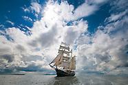 Dutch Tallship Thalassa Barquentine sails the Irish coast and the Hebrides