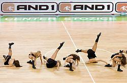 Cheerleaders Dragon Ladies during basketball match between KK Union Olimpija and Igokea in First round of NLB league in Arena Stozice on October 9, 2010 in SRC Stozice, Ljubljana, Slovenia. Union Olimpija defeated Igokea 61-54. (Photo by Vid Ponikvar / Sportida)
