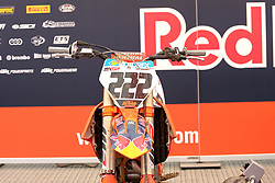 June 17, 2018 - Ottobiano, Lombardia, Italy - The KTM motorbike number 222 of Antonio Cairoli (Red Bull KTM Factory Racing team) before the race Fiat Professional MXGP of Lombardia at Ottobiano Motorsport circuit on June 17, 2018 in Ottobiano (PV), Italy. (Credit Image: © Massimiliano Ferraro/NurPhoto via ZUMA Press)
